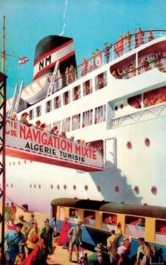 """Compagnie de Navigation Mixte Algérie-Tunisie"""" - Vers 1950 -"""