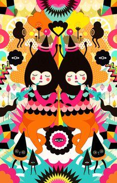 Ilustraciones Simétricas de Muxxi-Guatemala