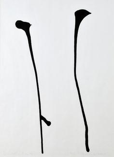 Anna Maria Maiolino - Untitled (dalla serie Codificações Matéricas) - 1995 - inchiostro su carta Frank Stella, Action Painting, Virtual Art, Korean Art, Black And White Abstract, Mark Making, Land Art, Light Art, New Art