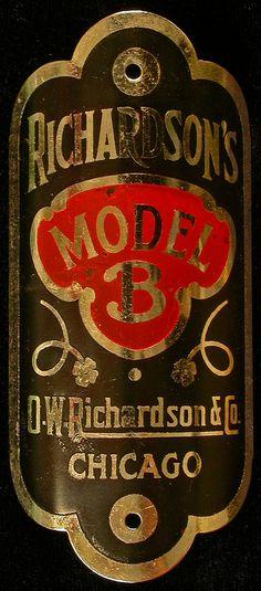 Bicycle Head Badge - Richardson's Model B  http://www.flickr.com/photos/66534653@N02/6432889253/sizes/l/in/pool-71863526@N00/