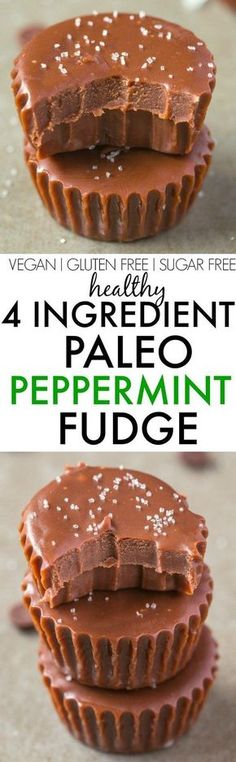 4 Ingredient Paleo Peppermint Fudge- Smooth, creamy and secretly healthy, it's made with NO condensed milk, NO dairy, NO white sugar, NO grains and ZERO butter- It's a quick, easy and healthy four-ingredient sugar free fudge treat! {vegan, gluten free, paleo recipe}- http://thebigmansworld.com