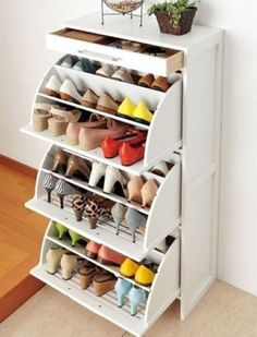 I want this shoe rack for my room so badly - it would save so much space!