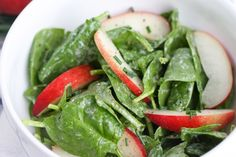focus summer salads spinach peach salad with creamy chive vinaigrette ...