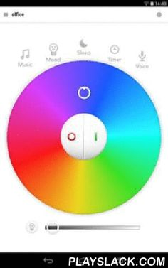 """Easybulb  Android App - playslack.com , """"Meet Easybulb App. It allows you to control your home or office lighting using your iPhone, iPad and iPod Touch via WIFI. It puts the power of your lights in the palm of your hand. Choose from any colour including white light to other colours using the colour wheel on the App. Set the lights to match your mood, control individual lights or groups of lights, use the timer function and night sleep mode to tell your lights to dim gradually within a…"""