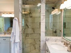 HGTV: See all the details of this luxurious master bathroom on Fixer Upper Season 2.