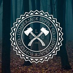 "This combination logo stays true to brand's purpose. It appears to a be bit ""hipster"" and totally ""lumberjack-ish!"" I like the border around the words and symbol. Lumberjack Boots, Lumberjack Party, Axe Logo, Cute N Country, Cover Tattoo, Stencil Art, Logo Concept, Flyer, Cool Logo"