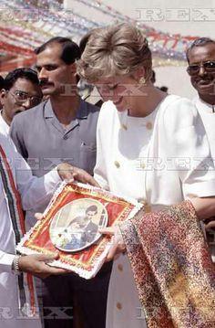PRINCESS DIANA 1992 during her visit to Pakistan
