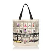 Bloomingdales Iconic Storefront Canvas Tote = work of art by itself
