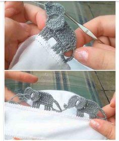 Tutorial >> DIY Crochet Elephant Edging Border