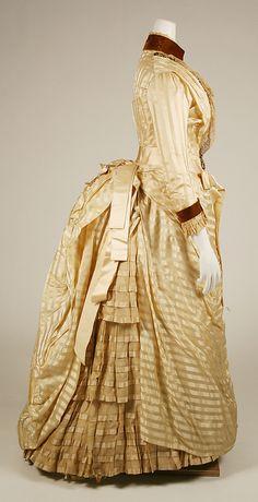 Dress  Date: ca. 1886 Culture: American Medium: silk, metallic thread, beads