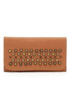 American West Dixie Girl Tan Tri-Fold Wallet