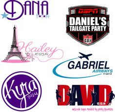 A few of the fabulous Mitzvah Logos that Party Favorites created in the past few months.  #barmitzvah #batmitzvah