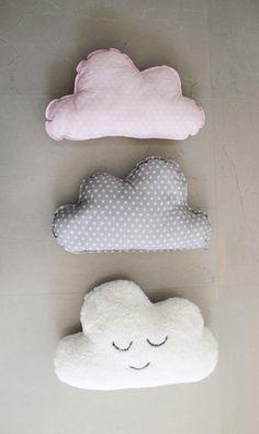 Adorable, neutral nursery decor ideas, cloud, pillow, nursery pillow, cloud pillow, monochrome nursery decor, nursery cushions by EmmasStory