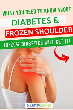 A frozen shoulder is unfortunately not an uncommon issue for people living with diabetes. According to the American Diabetes Association, 10-20% of individuals with diabetes will get a frozen shoulder in their lifetime. In this post, I will cover how to diagnose a frozen shoulder, how to prevent it, treatment options and exercises, and what not to do if you have a frozen shoulder. #frozenshoulder #shoulderpain #diabetes #diabetestips #managingdiabetes #diabetesstrong What Is Frozen Shoulder, Health And Fitness Articles, Health Fitness, Easy Family Meals, Family Recipes, Shoulder Surgery, American Diabetes Association, Diabetes Management, Workout Programs