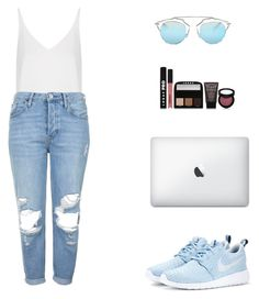 """""""Summer."""" by roci28 ❤ liked on Polyvore featuring Topshop, NIKE, Christian Dior and LORAC"""