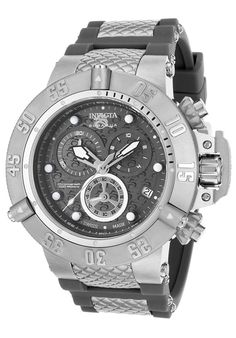 Invicta Watch 15797 Men's Subaqua Chronograph Gunmetal Dial Gray Polyurethane