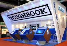 Panasonic stands - We like the various angles on this Toughbook exhibit!