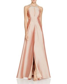 395.00$  Watch now - http://vikpb.justgood.pw/vig/item.php?t=4ucqf5u43597 - Aidan Mattox Embellished Neck Cutout Gown
