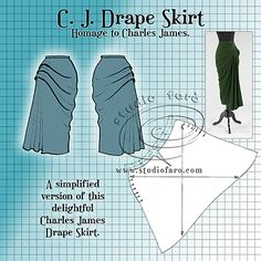 well-suited: Pattern Puzzle - CJ Drape Skirt