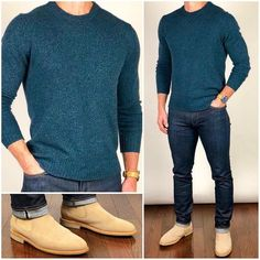 Boots Outfit Men Casual Sweaters 38 Ideas For 2019 Formal Men Outfit, Men Formal, Casual Outfits, Casual Boots, Stylish Men, Men Casual, Casual Fall, Trajes Business Casual, Zalando Style