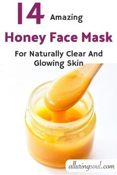 mask diy 14 Honey Face Mask For Naturally Clear And Glowing Skin Face Mask For Pores, Toner For Face, Face Skin, Face Face, Clear Skin Face Mask, Banana Face Mask, Aloe Vera Face Mask, Aloe Vera For Skin, Piel Natural