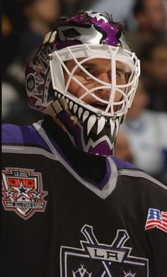 Felix Potvin (2000-03) Goalie Pads, Los Angeles Kings, National Hockey League, Goalkeeper, Ice Hockey, Nhl, Athlete, Hockey Stuff, The Incredibles