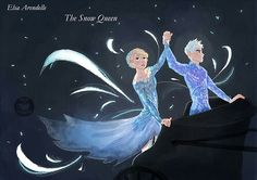 jelsa, frozen, and jack frost image Frozen Love, Elsa Frozen, Disney Frozen, Jelsa, Jack Y Elsa, Jack Frost And Elsa, Rise Of The Guardians, Arte Disney, Queen Elsa