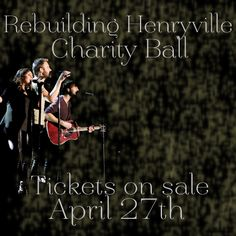 We want to invite you ALL to our Rebuild Henryville Charity Ball on May 16th! Click for all the ticket sale info!