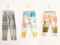 nani iro toddler pants (free pattern and tutorial) Baby Girl Pants, Toddler Pants, Fabric Scissors, Leg Cuffs, Free Baby Stuff, Baby Sewing, Two Pieces, Free Pattern, Organic Cotton