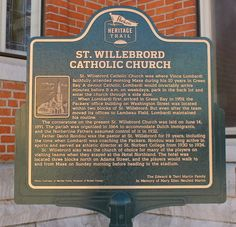 Wisconsin Historical Markers: Packers Heritage Trail Marker 10: St. Willebrord Catholic Church