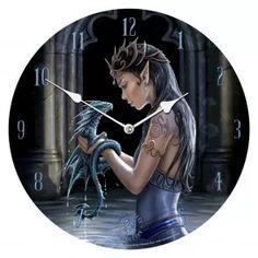 horloge elfe et dragon déco anne stokes boutique