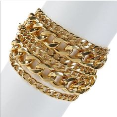 SALE❤️❤️Layered T&J Design Chain Link Bracelet ❤️t+j Designs Layered Chain Link Bracelet B730. Layered Chain Link Bracelet. Size: One Size.  Material Content: gold plated base metals/ nickel free/ lead free. Made in China.❤️❌1 HR SALE may NOT be combined with the bundle feature❌❌ T&J Designs Jewelry Bracelets