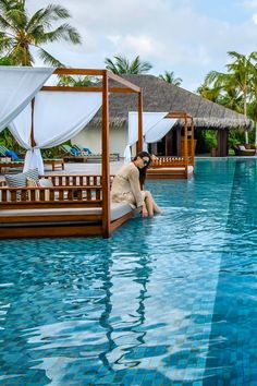 Spend your days in blissful idleness, flitting from sundeck to beach, pool to ocean. The Residence Maldives (Falhumaafushi, Maldives) - Jetsetter