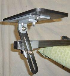 Belt Sander/Grinder Work Rest Table - Builder's Special [Knife Making] Knife Grinding Jig, Knife Grinder, Knife Sharpening, Belt Sander Uses, Bench Grinder Stand, 2x72 Belt Grinder Plans, Belt Knife, Machinist Tools, Grinding Machine