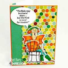"""Art Impressions Rubber Stamps: Ai Golden Oldies ...""""Sitting Lovelle"""" (#2635)... handmade card."""