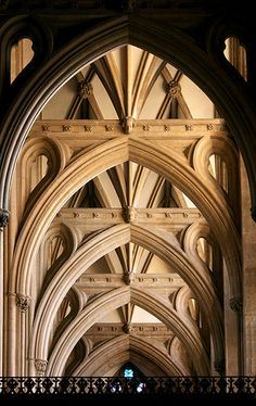 England is unique among English Cathedrals because the height of the Nave and the Aisles are the same. Cathedral Architecture, Gothic Architecture, Classical Architecture, Beautiful Architecture, Beautiful Buildings, Architecture Details, Interior Architecture, Ancient Architecture, Modern Buildings