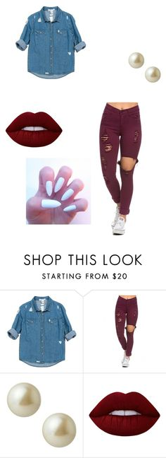 """Lakiyah's Work"" by lepps ❤ liked on Polyvore featuring Sans Souci, Carolee and Lime Crime"