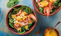 Esta salada de camarão de sabor irresistível, realçado pelo toque da mostarda antiga, numa combinação diferente, que vai surpreender toda a família.