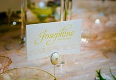 Pretty place cards by @The Inviting Place Tulsa in the @Lasting Impressions Tabletop. Photo by Chris Humphrey Photographer. #wedding #placecard #namecard