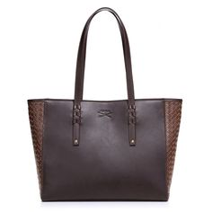 b241f599f8 Gorgeous Coffee  amp  Cognac Leather Tote Bag. Get your Mom what she really  wants