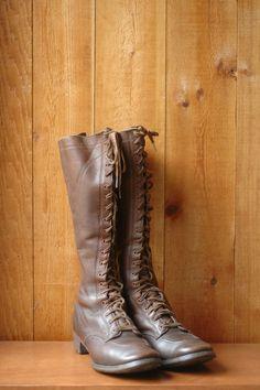 vintage 1930s boots / antique 30s lace up by honeytalkvintage, $450.00