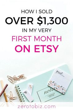 New Etsy shop? Read my story and advice on selling! How I sold over $1,300 in my first month on Etsy