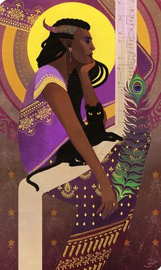 art by xfreischutz (http://xfreischutz.tumblr.com/post/105679763282/companion-cards-of-asolitaryroses-haddiyah-adaar)