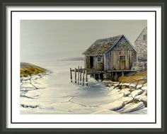 Fishing Shack Peggy's Cove Framed Print by Wayne Enslow Artwork Prints, Framed Prints, Fishing Shack, Acrylic Paintings, Hanging Wire, Prints For Sale, East Coast, Fine Art America, House Styles