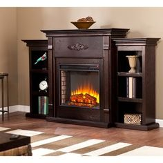 Wallace Infrared Electric Fireplace Entertainment Center in Empire ...