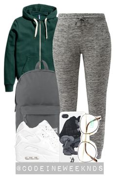 """10/18/15"" by codeineweeknds ❤ liked on Polyvore featuring Herschel Supply Co., NIKE and Benetton"