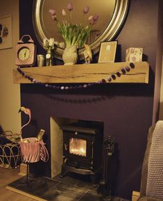 """FIREPLACE MANTEL (4"""" x 5"""" ) #FirePlaceShelf #OakFloatingMantel #OakShelf #OakFloatingMantle #OakBeamForFire #OakLintel #FireplaceBeam #lintel #HomeInterior #fireplace Masonry Wall, False Wall, Floating Mantel, Fireplace Shelves, Fireplace Mantels, Oak, Floating Mantle, Fireplace, Fireplace Beam"""