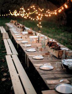 10 Fall Table Decor Ideas - 10 Herbst Tischdekoration Ideen - ideas for fall Bohemian Wedding Reception, Wedding Reception Centerpieces, Wedding Receptions, Farm Wedding, Rustic Wedding, Wedding Decorations, Reception Ideas, Trendy Wedding, Low Key Wedding