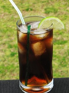 Cuba Libre (aka rum & coke but with lime) - 2 oz.Rum(most use Light, but Dark is ok), 6 oz. Cola,.5 oz. fresh Lime Juice, Lime wedge to garnish. Pour the Rum into an ice filled Collins glass. Add the Cola and Lime Juice, and give it a good stir. Place the Lime wedge on the rim of the glass.