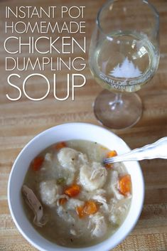 This delicious homemade chicken dumpling soup recipe has tons of flavor and is a great option for a quick weeknight meal. Made in the instant pot, it's a family favorite! Slow Cooker Recipes, Crockpot Recipes, Soup Recipes, Chicken Recipes, Chicken Dumpling Soup, Dumplings For Soup, Quick Weeknight Meals, Homemade Soup, Original Recipe